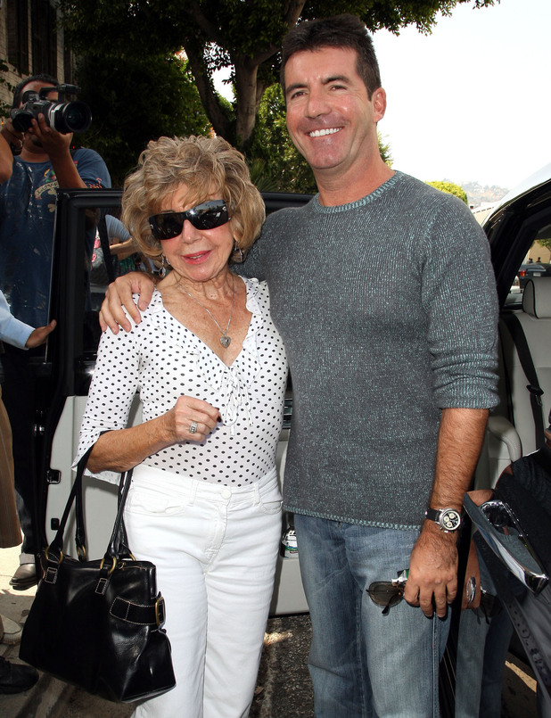 Simon Cowell and his mother Julie Cowell - 5 October 2008.