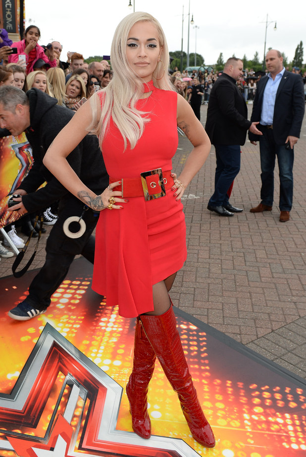 Rita Ora arrives for first day of X Factor auditions in Manchester 8 July