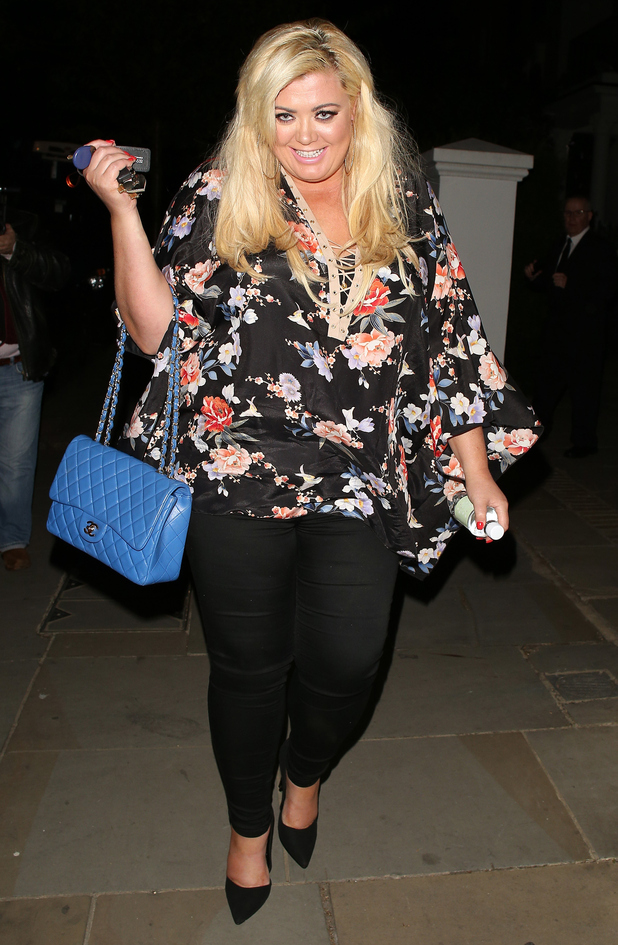 Gemma Collins attending the ITV summer party in Notting Hill on July 9, 2015 in London, England.