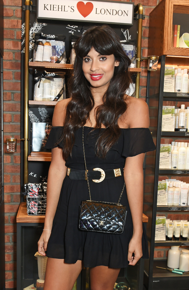 Jameela Jamil poses at the Kiehl's Pioneers By Nature party in London, 10th July 2015