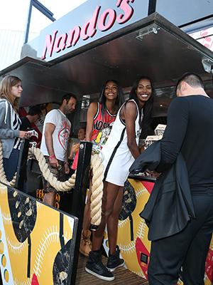 Jess Glynne at Nando's Cock o' Van at Wireless July 2015