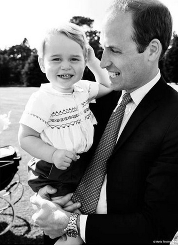 Princess Charlotte's Christening, 5 July 2015 William and George