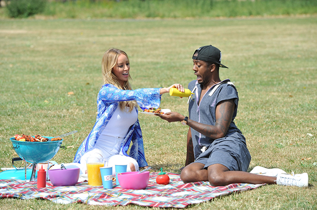 Lauren Pope and Vas J Morgan have a summer bbq for Cancer Research UK