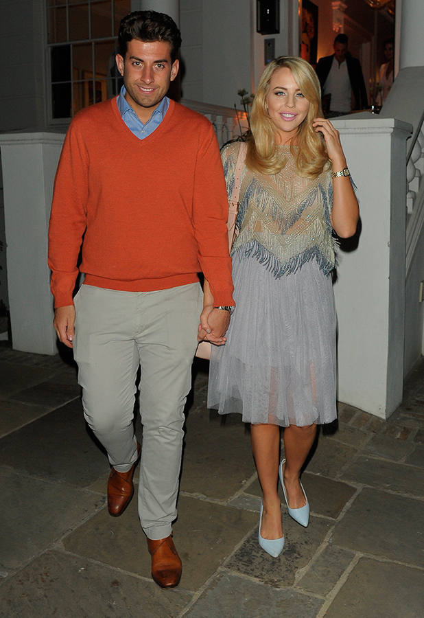 ITV Summer Party at a private address in West London James Argent and Lydia Bright 9 July 2015