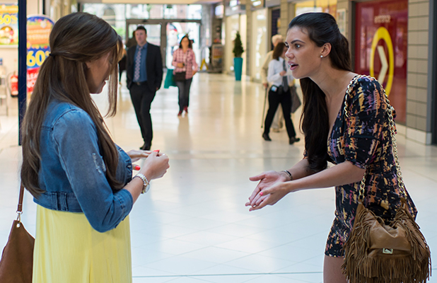 The Only Way is Essex' cast filming, Britain - 07 Jul 2015 Jess Wright and Verity Chapman