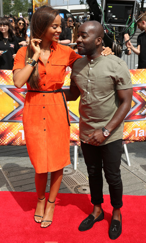 Rochelle Humes and Melvin Odoom, X Factor auditions, Wembley Arena 16 July