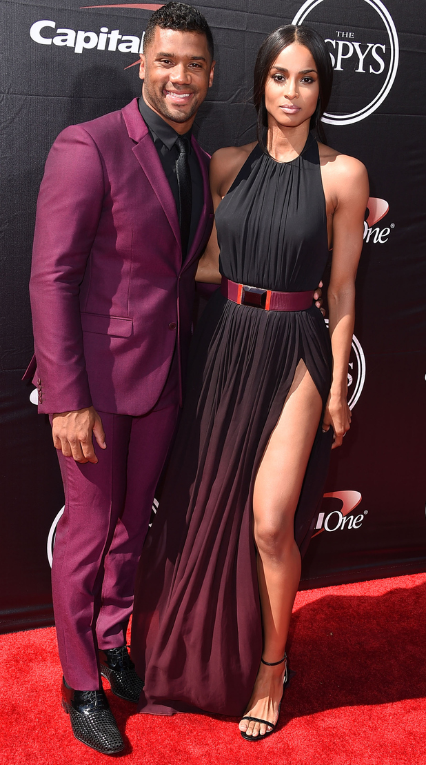 Ciara and Russel Wilson posing at the ESPY Awards in L.A 16th July 2015