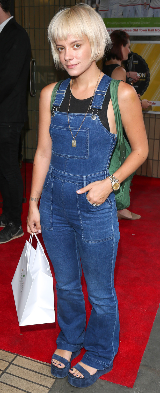 Lily Allen at Ashes Class of 05 screening in Mayfair, London 15th July 2015