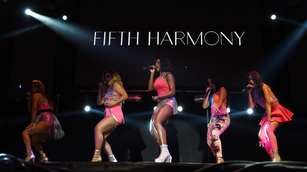Girl band Fifth Harmony perform onstage at LA Pride 2015 on June 14, 2015 in West Hollywood, California.