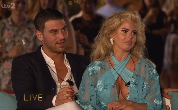 Hannah Elizabeth and Jonathan Clark during Love Island final 15 July