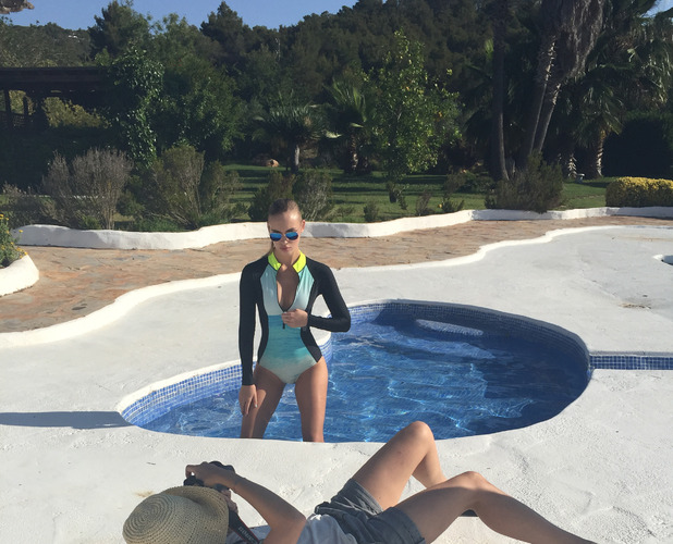 Behind the scenes shot of Ibiza swimwear shoot 15th July 2015