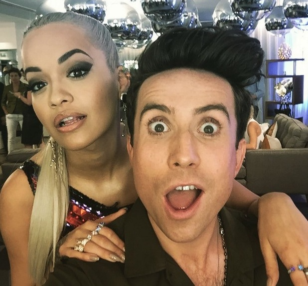 Rita Ora and Nick Grimshaw at X Factor audtions, Wembley, London 15 July