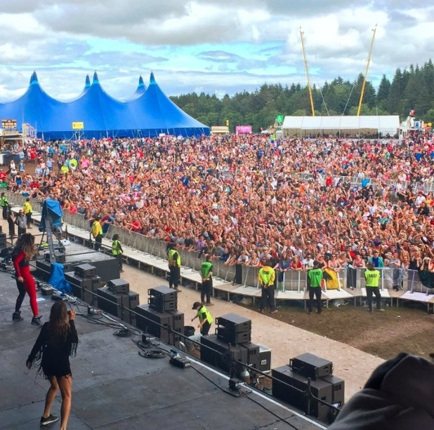 Ella Eyre posts picture of T In The Park Audience to Instagram 13th July 2015