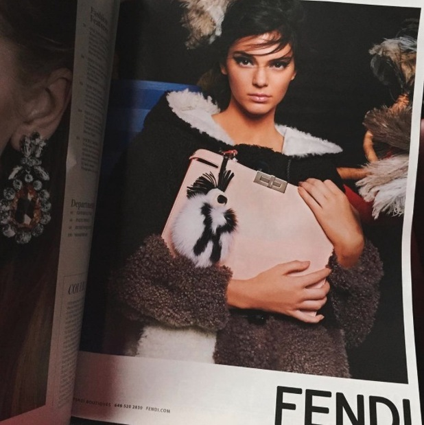 Kendall Jenner takes to Instagram to share picture of Fendi campaign, 13th July 2015