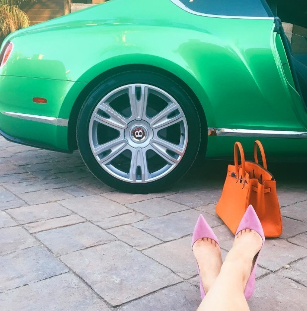 Kylie Jenner shares shoe selfie to Instagram 13th July 2013