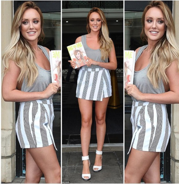 Charlotte Crosby wears her Nostalgia skort, inthestyle.com on The Wright Stuff, 14 July 2015