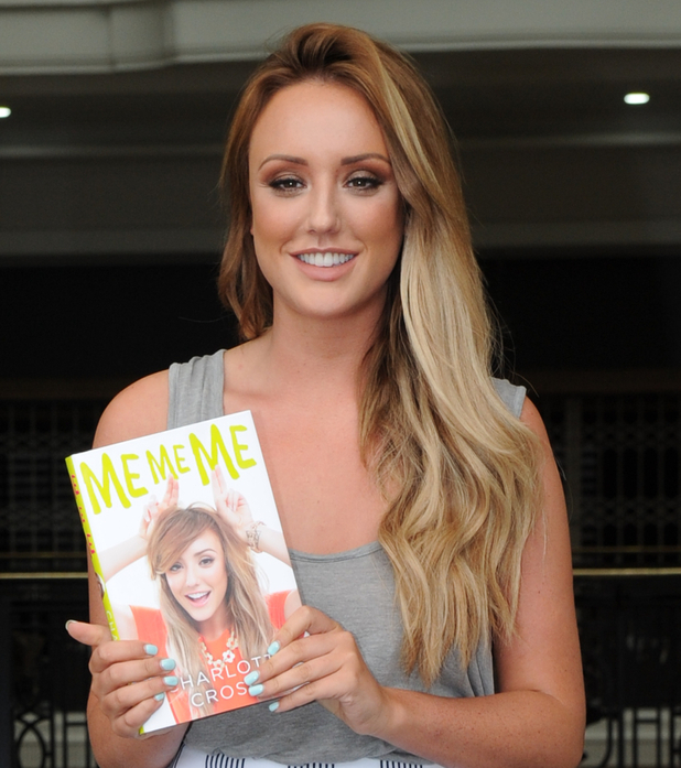Charlotte Crosby leaving the Wright Stuff studios holding a copy of her book 'Me, Me, Me', 14 July 2015