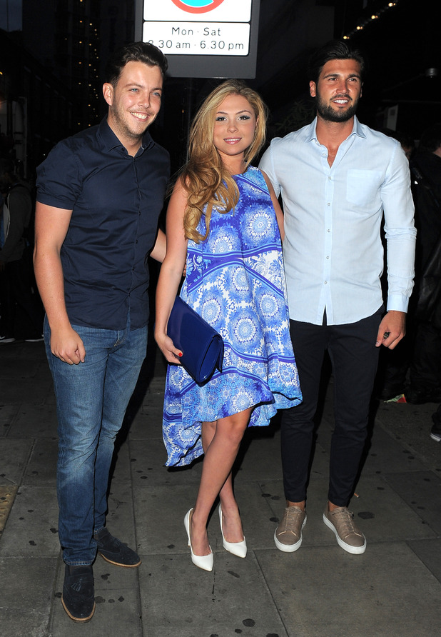TOWIE's Fran Parman and James 'Diags' Bennewith at the In the Style x Now Summer Party at The Drury Club - Outside Arrivals