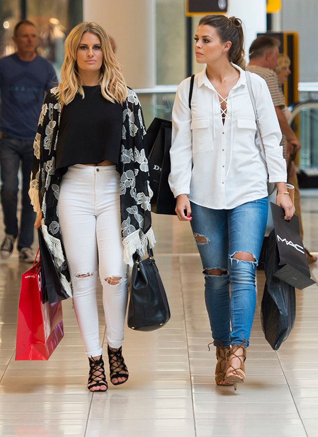 Danielle Armstrong and Chloe Lewis shopping at Lakeside 14 Jul 2015