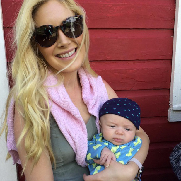 Heidi Montag cradles nephew Isaiah Hawk Wilson 16 July 2015