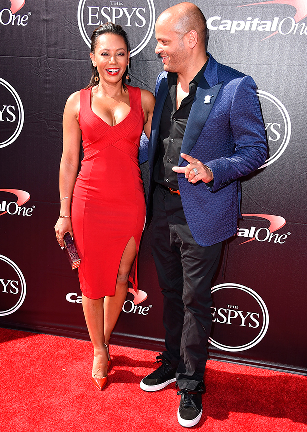 Mel B and Stephen Belafonte arrives at the The 2015 ESPYS at Microsoft Theater on July 15, 2015 in Los Angeles, California. (Photo by Steve Granitz/WireImage)