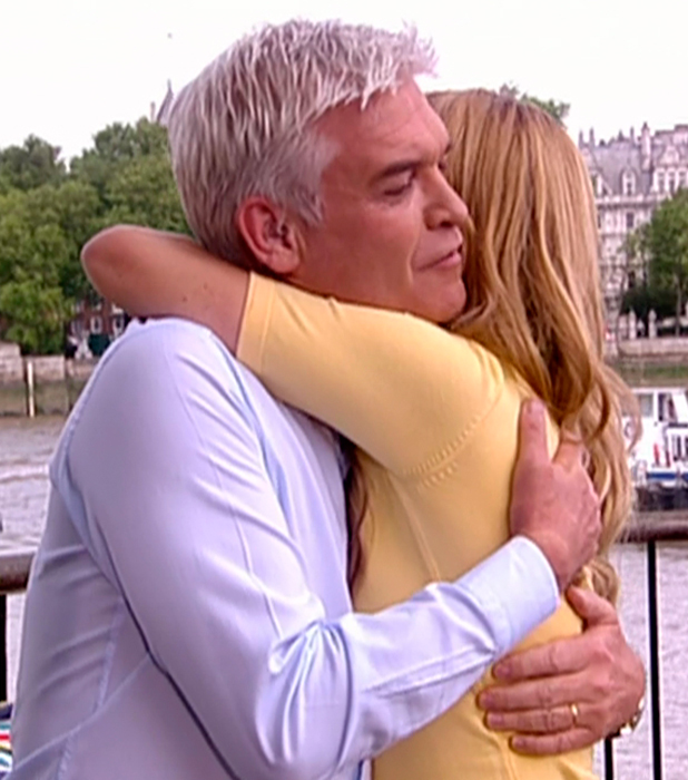 Amanda Holden and Phillip Schofield on Holden's last day presenting 'This Morning'. Broadcast on ITV1 HD.
