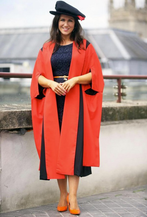 Susanna Reid at Cardiff University to accept Honorary Fellowship.