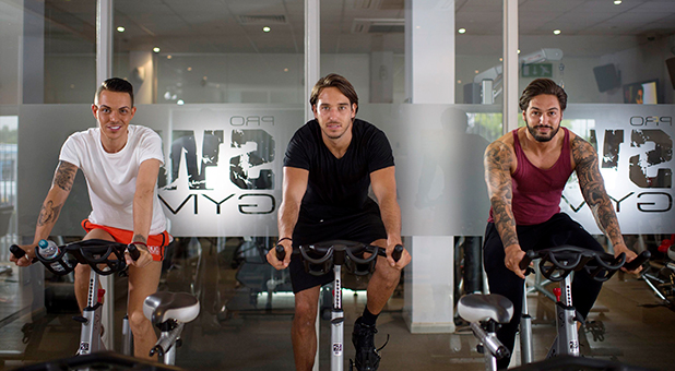 Bobby Cole Norris, James Lock and Mario Falcone at the gym. 13 Jul 2015