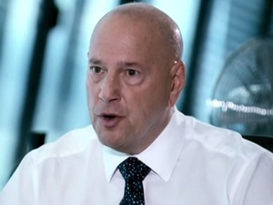 Solomon Akhtar being told off by Claude Littner during the interview round of The Apprentice. Series 10 - 2014.