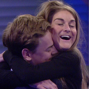Nikki Grahame and Nick Henderson inside the Big Brother house - 16 June 2015.