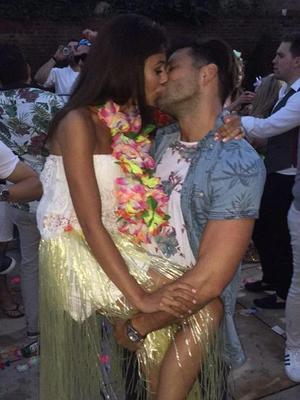 Mark Wright and Michelle Keegan throw garden party, Saturday 25 July 2015.