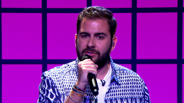 X Factor finalist Andrea Faustini today launched his debut album 'Kelly' on QVC - 20 July 2015.