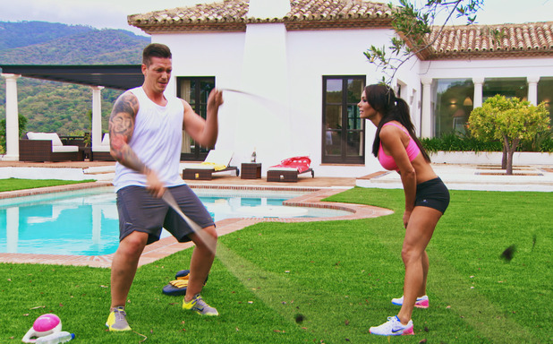 Life On Marbs: Mark Foster training with Danni Levy - 22 July 2015.