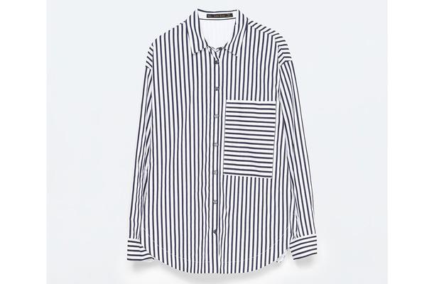 Zara Oversized Shirt £15.99, 21st July 2015