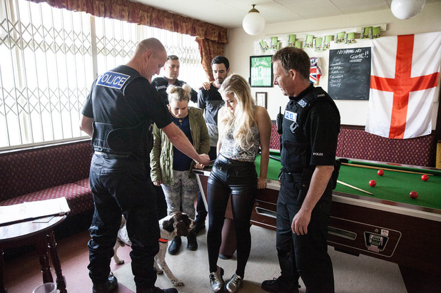 Corrie, Bethany is searched for drugs, Mon 27 Jul