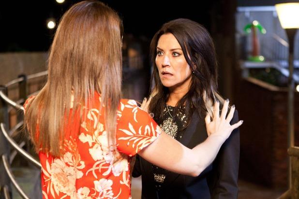 Hollyoaks, Sienna pushes Reenie, Tue 21 Jul
