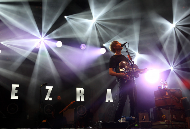 George Ezra performing on stage during the Summer Series event at Somerset House 13 July