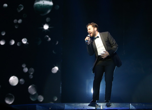 'The X Factor' tour at the Odyssey Arena - Andrea Faustini performs on the opening night of 'The X Factor' tour at the Odyssey Arena in Belfast - 13 February 2015.