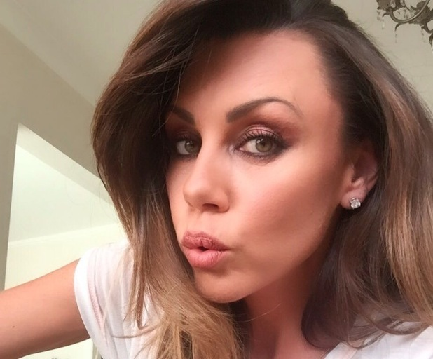 Michelle Heaton takes to Instagram to share a selfie of her blended eye make-up 21st July 2015