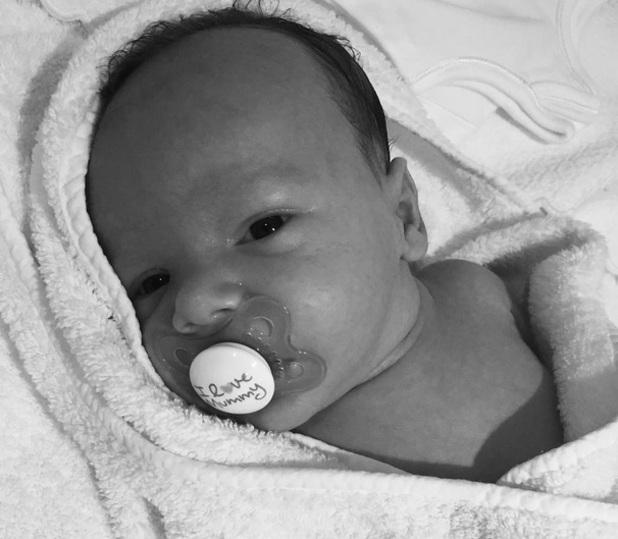 Billi Mucklow shares photo of baby boy Arlo 21 July