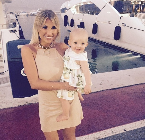 Billie Faiers and Nelly on holiday 21 July