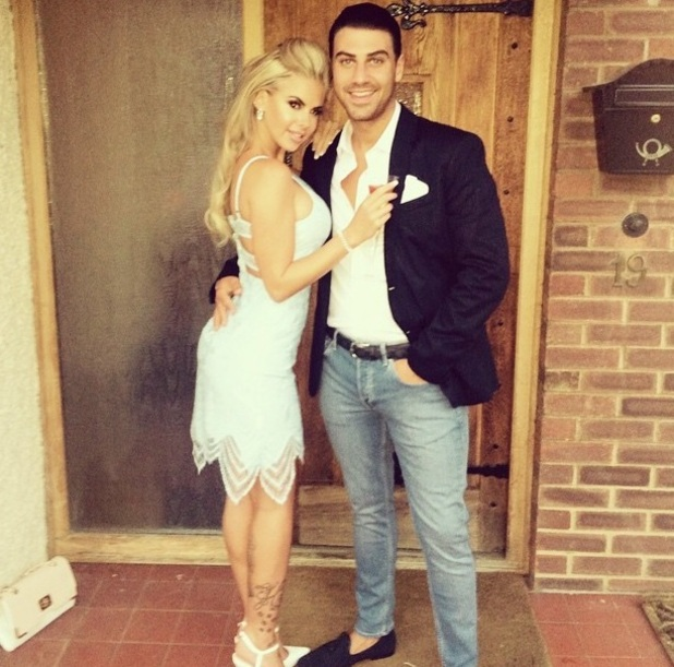 Hannah Elizabeth and Jonathan Clark head out for Luis Morrison birthday 22 July
