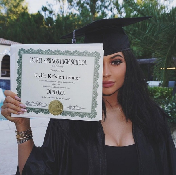 Kylie Jenner shares photos from her surprise graduation party, 24th July 2015