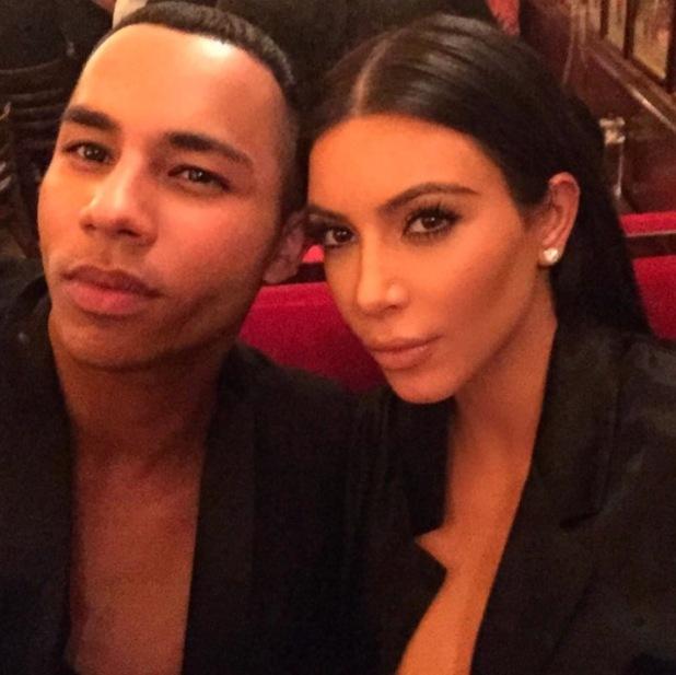 Kim Kardashian and Oliver Rousteing pose for Instagram selfie, 21st July 2015