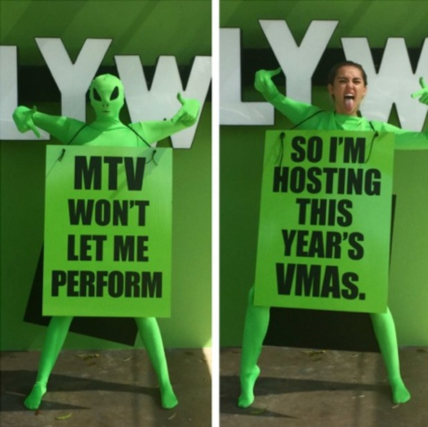 Miley Cyrus is hosting this year's 2015 MTV Video Music Awards, 21st July 2015