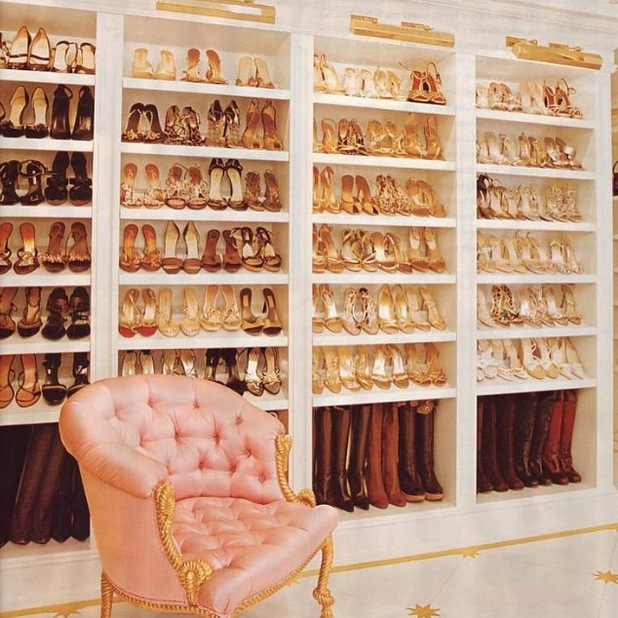 Mariah Carey shares picture of her shoe closet on Instagram 21st July 2015
