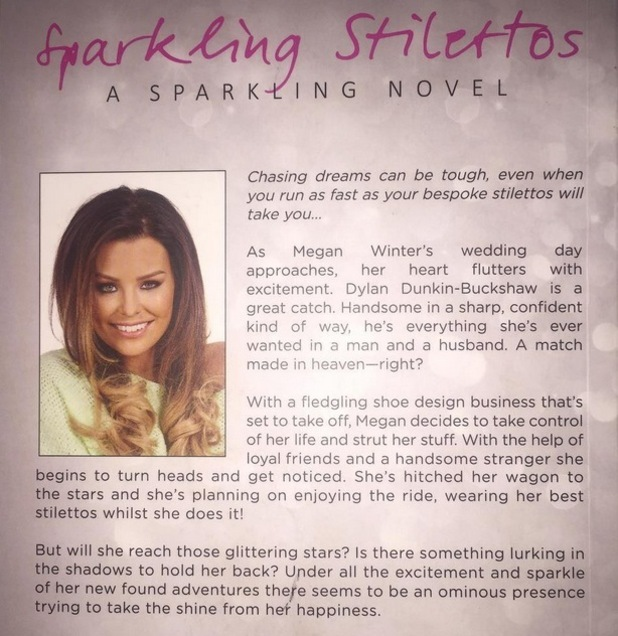 Jessica Wright reveals the back cover of her book 'Sparkling Stilettos', 22nd July 2015