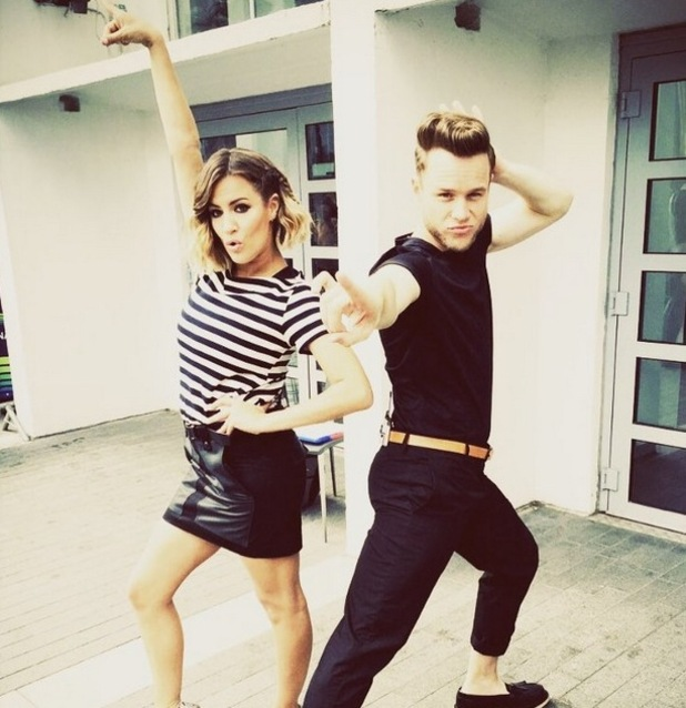 Caroline Flack and Olly Murs channel Grease at X Factor auditions - 21 July 2015.