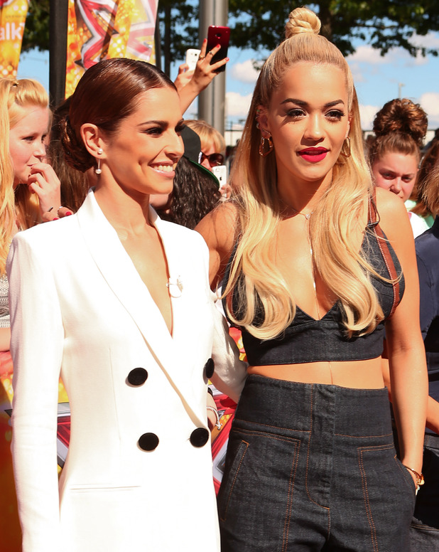 Cheryl Fernandez-Versini and Rita Ora at the X Factor Auditions in London 19th July 2015