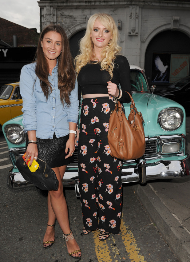 Brooke Vincent and Katie McGlynn at The Infamous Diner opening in the Northern Quarter in Manchester - 23 July 2015. m